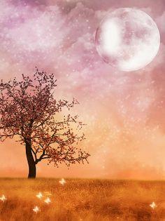 Fantasy landscape with moon,.  http://fineartamerica.com/featured/fantasy-landscape-with-moon-nelieta-mishchenko.html