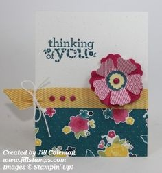 Love the flowers created by the Fun Flowers Bigz Die! #stampinup