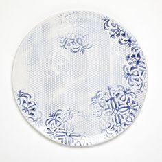 "Food & Wine Magazine's Plate Project: John Robshaw's contribution ""Indigo Honeycomb"""