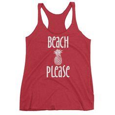 Beach Please Triblend Tank Top - Ladies'