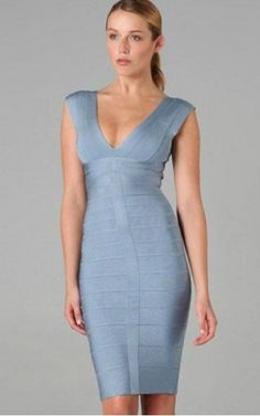 c4bedffc0201 Empire V-Neck Herve Leger Bodycon Bandage Dress Party Dresses For Women