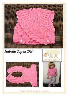 Looking for your next project? You're going to love Isabella crossover Top knitting Pattern by designer maybebaby1422977. - via @Craftsy