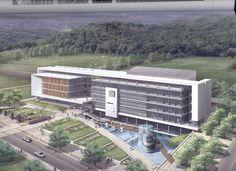 masses Condominium Architecture, Healthcare Architecture, Office Building Architecture, Commercial Architecture, Chinese Architecture, Facade Architecture, Building Design, Facade Design, Exterior Design