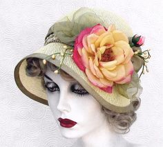 Butter Cream Vintage Style Summer Hat by Vintage Style Hats by Gail, via Flickr