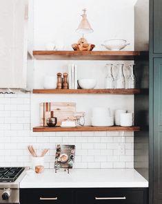 Kitchen Desk Organization, Kitchen Desks, Kitchen Shelves, Kitchen Cabinets, Gray Cabinets, Kitchen Items, Elegant Kitchens, Modern Farmhouse Kitchens, Country Kitchen