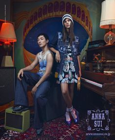Anna Sui Spring 2015  Anna Sui - Designer Emma Summerton - Photographer Bill Mullen - Fashion Editor/Stylist Jordan Sparkes - Hair Stylist Kabuki - Makeup Artist Viki Rutsch - Set Designer Alicia Torello - Manicurist Yusuke Onuki - Actor Antonina Petkovic - Model