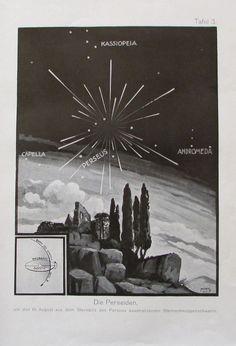 1931 DIE PERSEIDEN alter Druck Antique Print Lithografie Astronomie | eBay