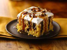 Craft, Home and Garden Ideas - Caramel-Drizzled Pumpkin Poke Cake