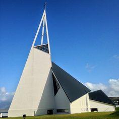 Ólafsvíkurkirkja by Hákon Hertervig, 1967. Photo by Peacefulsand #religiousarchitecture