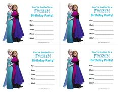 printable frozen birthday invitations Frozen Party Invitations