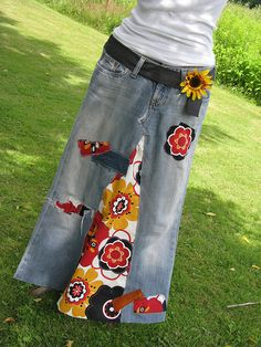 Denim Recycled HiPPie skirt | Flickr - Photo Sharing!