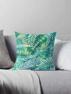 'Acvatic mood' Throw Pillow by Diana T Designer Throw Pillows, Watercolor Illustration, Pillow Design, My Works, Original Art, It Is Finished, Mood, Prints, Watercolour Illustration