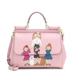 Dolce & Gabbana - Miss Sicily Medium embellished leather shoulder bag - mytheresa.com