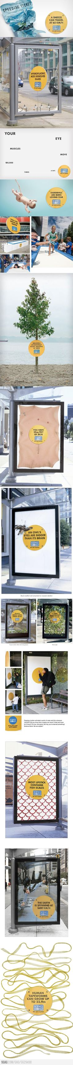 """Clever Ads from """"Science World"""""""