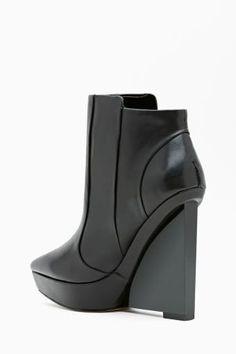 Shoe Cult Velocity Wedge Boot - Black #ShoeCult