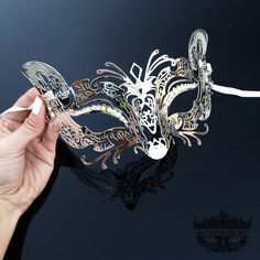 Masquerade Mask Cat Mask Silver Masquerade Mask by 4everstore