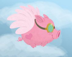 Steampunk Flying Pig by SatrunTwinsArtShop on Etsy