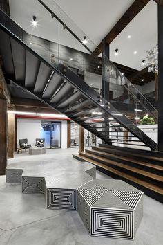 West Elm Office     | stairway | #stairway #office http://www.ironageoffice.com/