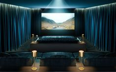 to turn your home into a luxury cinema With Oscar nominations out, why not create your own mini-cinema? It's more than just a TV room.With Oscar nominations out, why not create your own mini-cinema? It's more than just a TV room. Home Theater Room Design, Home Cinema Room, At Home Movie Theater, Home Theater Rooms, Home Theater Seating, Home Theater Curtains, Theater Room Decor, Theater Seats, Luxury Houses