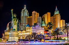 Las Vegas, Nevada, USA The Strip in Las Vegas dazzles with neon on every inch of the buildings.