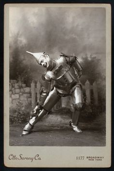 Fred Stone as the Scarecrow and David C. Montgomery as the Tin Man in The Wizard of Oz (1902)