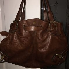 AUTHENTIC BURBERRY BAG AUTHENTIC BROWN LARGE BURBERRY, this bag has 3 compartments super clean worn a few times gold hardware, dust bag include Burberry Bags Shoulder Bags