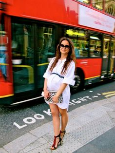 Miroslava Duma Maternity Shirtdress. So sleek and sexy. Makes me want to be pregnant and living in NY!