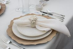 Layering textures creates a natural but classy feel to this table setting, as seen in: Demure and Dapper on Nantucket | Southern New England Weddings Photo by: Katie Kaizer Photography #nantucket #theme #nautical #wedding #island