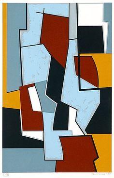Sam Vanni, Sommitelma, 1985, serigrafia, 57,5x39 cm, edition I/XXV - Bukowskis