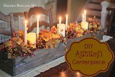 Golden Boys and Me: DIY Autumn Centerpiece
