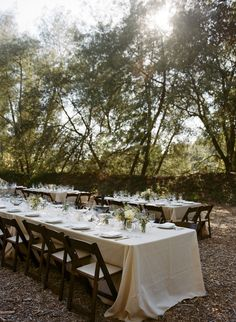 #outdoor-dinner-party  Photography: Gia Canali - giacanali.com  Read More: http://www.stylemepretty.com/california-weddings/2014/11/10/rustic-santa-cruz-mountain-wedding/