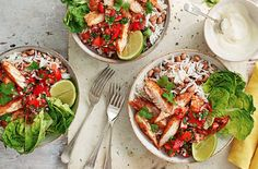 An exciting take on a burrito recipe, these bowls are loaded with Mexican flavours & are a great healthy dinner idea. See fish recipes at Tesco Real Food.