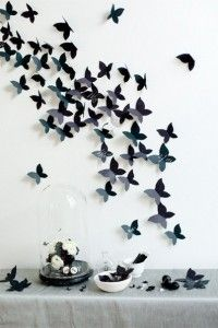 Butterflies adorn the walls (sheme)