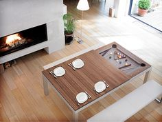 Fusion Table – part dining table part pool table
