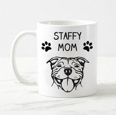 Staffy mom mug, dog mug, staffordshire bull terrier mug gift, dog owner gift, gift for her, best dog mom, funny dog mug, staffy dog mug Staffy Dog, Gifts For Dog Owners, Dad Mug, Staffordshire Bull Terrier, Dog Mom, Funny Dogs, Gifts For Him, I Shop, Dads