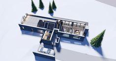SJUSJØEN- interior with loft Drawing Board, Loft, Architecture, Interior, Projects, Modern, Arquitetura, Log Projects, Blue Prints