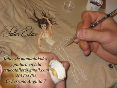 #camisetademujer en proceso #Curso #pinturaentela www.tallerestuco.... 914455482