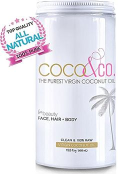 Pure Organic Virgin Coconut Oil for Hair Skin Body Scalp and Hair Growth By COCOCO Cosmetic Grade 100 RAW ** You can find out more details at the link of the image.