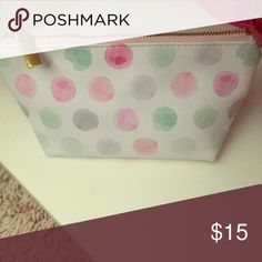 Cute polka dog bag In great condition! Best for pencils or makeup! (Not Kate Spade) kate spade Bags Mini Bags