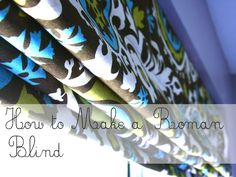 hodge:podge: How-to Sew a Roman Blind