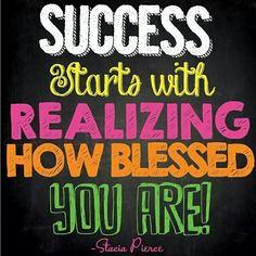 Gratitude attracts success