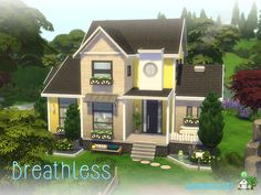 building a house Lovely little two story house for your sim Found in TSR Category 'Sims 4 Residential Lots' Sims 2 House, Sims 4 House Plans, Sims 4 House Building, Sims 4 House Design, Sims 4 Family House, Building Games, The Sims 4 Lots, Casas The Sims 4, Sims Four
