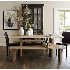 "Dakota 77"" Dining Table | Crate and Barrel"