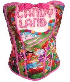 Candy Land Corset reserved for Shayla hull by kawaiiparlor on Etsy, $75.00