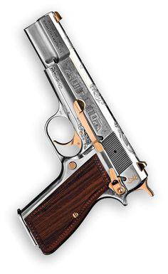 Hi Power Luxus Anniversary Edition Weapons Guns, Guns And Ammo, 1911 Pistol, Gun Art, Custom Guns, Home Defense, Military Guns, Cool Guns, Browning