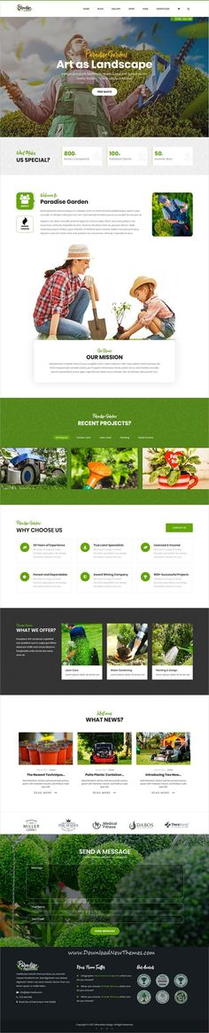 QParadise is clean and modern design 8in1 responsive #WordPress theme for gardener, #landscaping and #lawn services website download now..