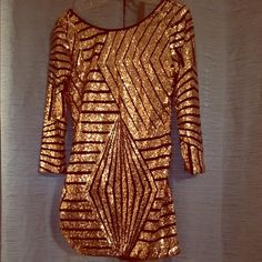Sequin dress Never worn ordered online and way to small for me. Dresses Mini