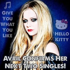 Avril Lavigne has revealed her next single choices and we're excited that they're completely opposite musical directions! The pop punk princess from Canada will be releasing different singles in different areas of the world. Her electronic dance track 'Hello Kitty' will be the next single in Asia while the rest of the world will see …