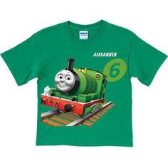 Personalized Thomas & Friends Percy Green Boys' T-Shirt, Blue