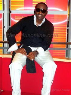 R & B sInger Johnny Gill at the Grammy Museum in Los Angeles.